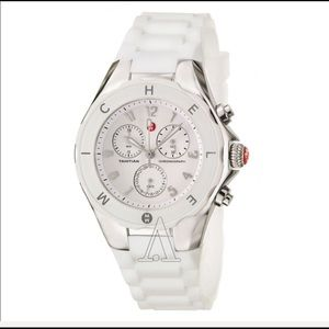 Michele Tahitian Jelly watch white 36 mm